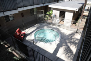 Jacuzzi and pool - Centralized mail boxes - Kendall Brook Apartments, San Bernardino, CA