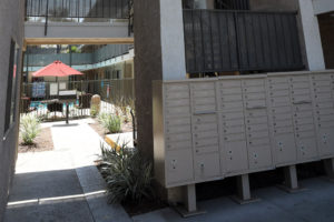 Centralized mail boxes - Kendall Brook Apartments, San Bernardino, CA