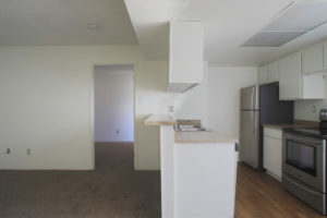 Floor Plan E - Kitchen - Kendall Brook Apartments, San Bernardino, CA
