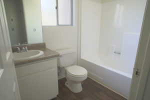 Floor Plan E - Bathroom - Kendall Brook Apartments, San Bernardino, CA