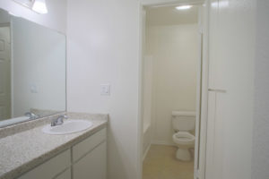 Floor Plan C - Bathroom - Kendall Brook Apartments, San Bernardino, CA